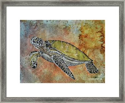 Framed Print featuring the painting Kauila Guardian Of Children by Suzette Kallen