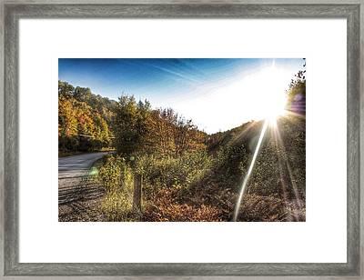 Kawagama Lake Road Framed Print by Lee Burgess