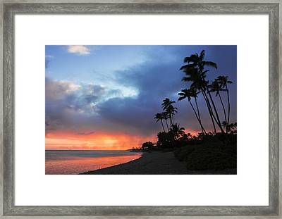 Kawaikui Sunset 2 Framed Print