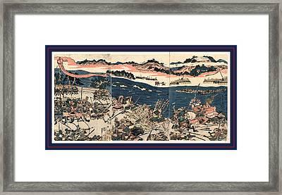 Kawanakajima No Kassen, Battle At Kawanakajima. 1809 Framed Print