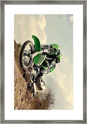 Kawasaki Hill Climb Framed Print