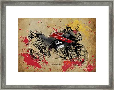 Kawasaki Ninja 250r Framed Print by Pablo Franchi
