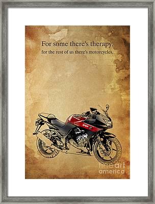 Kawasaki Quote Framed Print
