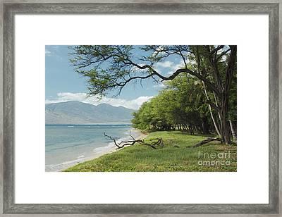 Kawililipoa Beach Kihei Maui Hawaii Framed Print by Sharon Mau