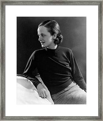 Kay Morrison Leaning On A Cushion Framed Print by Lusha Nelson