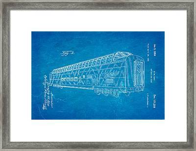 Kay Railway Car Patent Art 1954 Blueprint Framed Print by Ian Monk