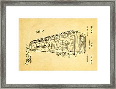 Kay Railway Car Patent Art 1954 Framed Print by Ian Monk