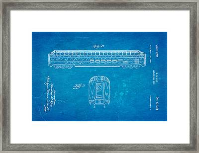 Kay Railway Car Patent Art 2 1954 Blueprint Framed Print by Ian Monk