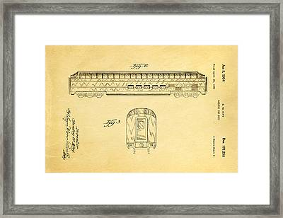 Kay Railway Car Patent Art 2 1954 Framed Print by Ian Monk