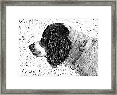 Kaya Wood Carving Filter Framed Print by Steve Harrington