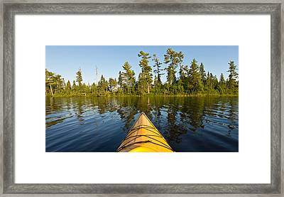 Kayak Adventure Bwca Framed Print by Steve Gadomski