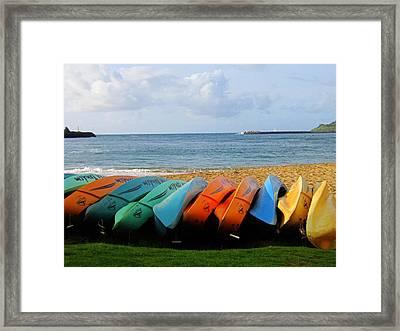 Kayak Framed Print by Ange Sylvestri
