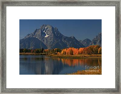 Framed Print featuring the photograph Kayak At Oxbow Bend by Clare VanderVeen