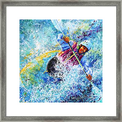 Kayak Crush Framed Print