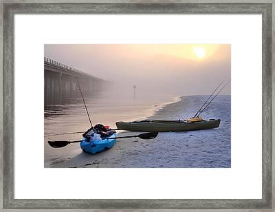 Kayak Destin Framed Print by JC Findley