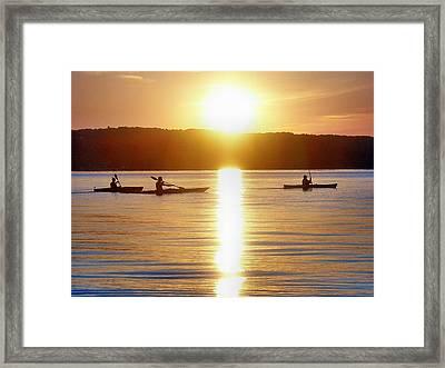 Kayak Family Framed Print by Bill Noonan