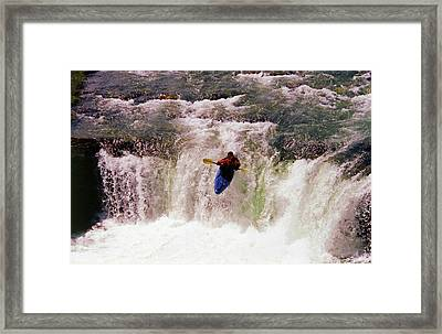 Kayak Leap II Framed Print
