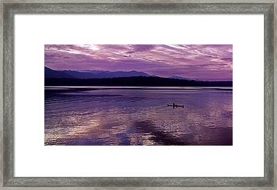 Framed Print featuring the photograph Kayak On Dabob Bay by Greg Reed