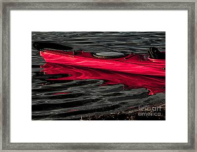 Kayak On Silken Lake Framed Print by Avalon Fine Art Photography