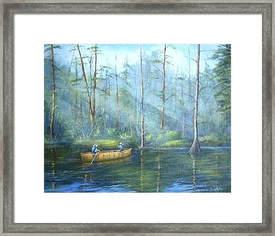 Kayak Rays Framed Print by Rich Kuhn