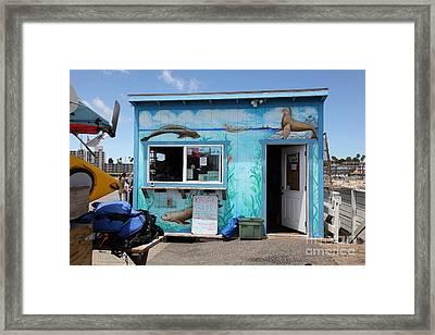 Kayak Rentals On The Municipal Wharf At Santa Cruz Beach Boardwalk California 5d23788 Framed Print by Wingsdomain Art and Photography