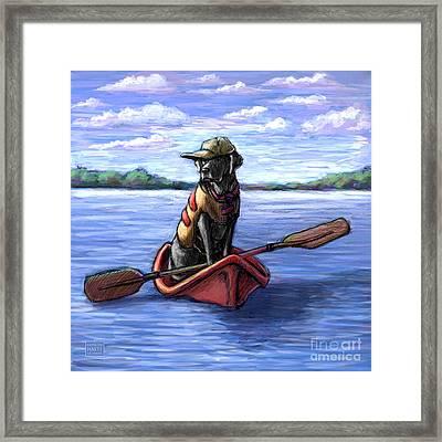 Kayak Ride Framed Print by Kathleen Harte Gilsenan