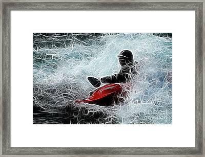 Kayaker 2 Framed Print by Bob Christopher