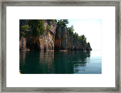 Framed Print featuring the photograph Kayaking By Shovel Point by Sandra Updyke