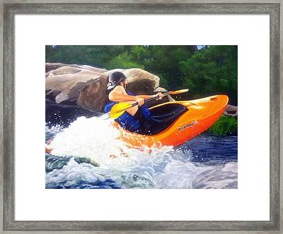 Kayaking Fun Framed Print by Cireena Katto