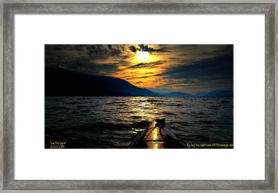Kayaking Framed Print by Guy Hoffman