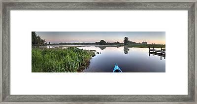 Kayaking In Florida Framed Print by Wioletta Pietrzak