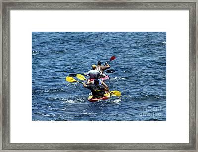 Kayaking In Hawaii  Framed Print