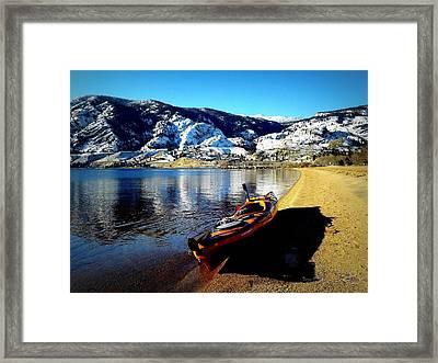 Kayaking In January Framed Print