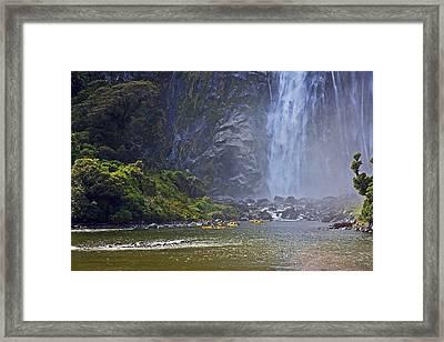 Kayaking On Milford Sound Framed Print