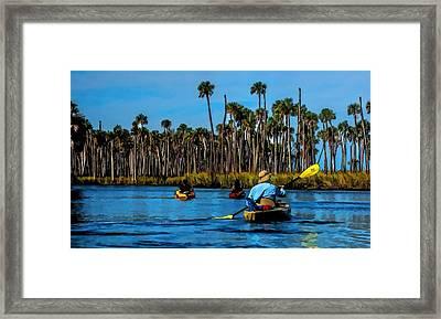 Kayaking Weeki Wachee Framed Print by Pamela Blizzard