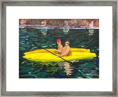 Kayaks Framed Print