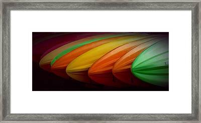 Kayaks Framed Print by Patricia Strand