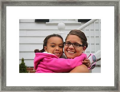 Kayla And Sky Framed Print by Carolyn Ricks