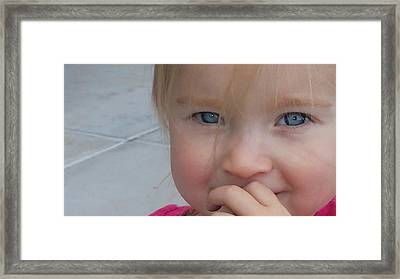 Kaylee Timid Framed Print