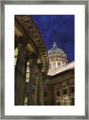 Kazan Cathedral Framed Print by Elena Nosyreva