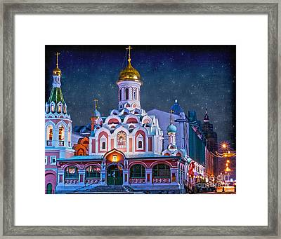 Kazan Cathedral. Red Square. Moscow Russia Framed Print by Juli Scalzi
