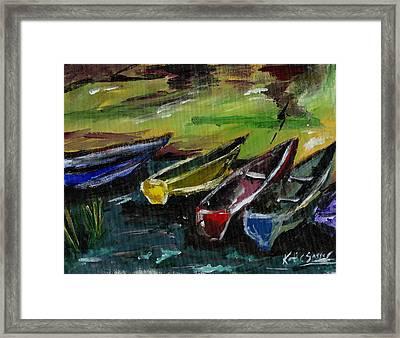 Kazinga Channel Boats Framed Print
