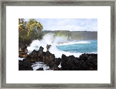 Keanae Lava Rocks Framed Print by Jenna Szerlag