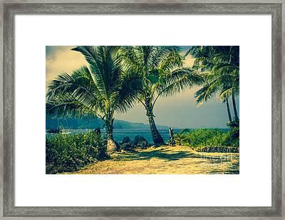 Keanae Maui Hawaii Framed Print by Sharon Mau