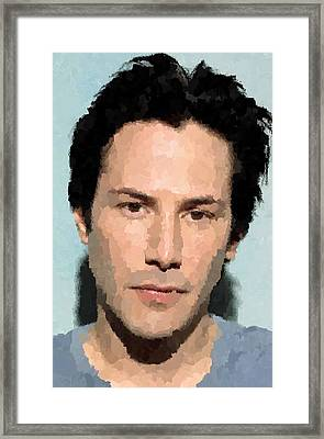 Keanu Reeves Portrait Framed Print