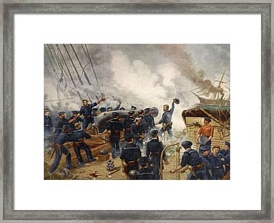 Kearsage Sinking The Alabama, June 19th Framed Print