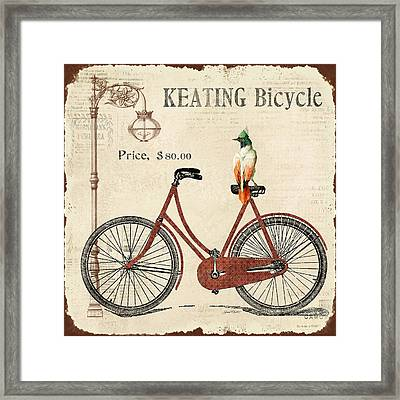 Keating Bicycle Framed Print by Jean Plout