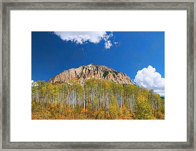 Marcelina Mountain -  Kebler Pass Framed Print by Allen Beatty
