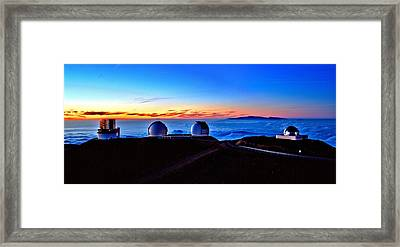 Keck At Sunset - Panoramic Framed Print by Bob Kinnison