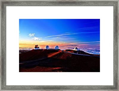 Keck At Sunset Framed Print by Bob Kinnison